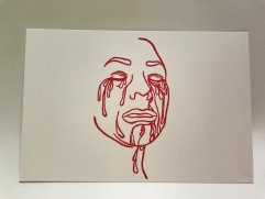 Crying Face 1 Postcard Front