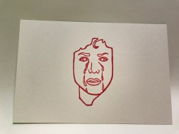 Small Crying Face Postcard Front