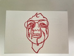 Crying Face with Glasses Postcard