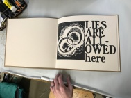 Lies Are Allowed Here - page spread 1